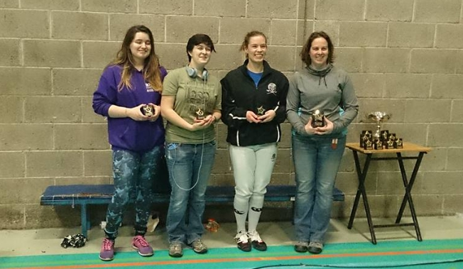 Anna Zink (CDFS)(third from right) placed 3rd at the East of Ireland Open. 2/12/2017